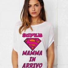 MAGLIETTA PER PREMAMAN, AMPIA VESTIBILITA' : SUPER MAMA