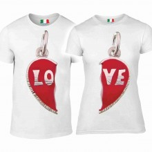 DUE MAGLIETTE IN 100% COTONE UOMO/DONNA : YOU AND ME