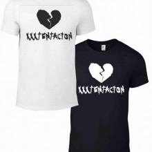 Maglietta bianca e nera da uomo e da donna