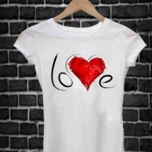 MAGLIETTA IN 100% COTONE UOMO/DONNA PER SAN VALENTINO: LOVES