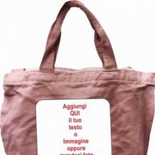 Shopper Rosa vintage Canvas con zip con solo un lato stampato personalizzato