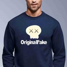 Felpa girocollo Fashion da uomo ORIGINAL FAKE