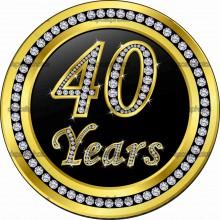MAGLIETTA IN 100% COTONE UOMO/DONNA PER 40 ANNI TITOLO: 40 YEAR