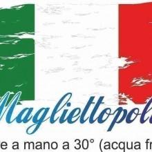 MAGLIETTA NERA 100% COTONE SCOLLO LARGO