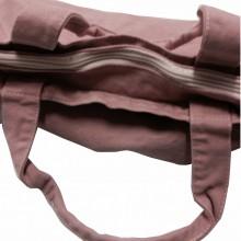 Shopper Rosa vintage Canvas con zip con solo un lato stampato, scegli il tuo mese preferito