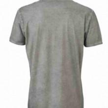 T-shirt con scollo a v, 100% cotone single jersey con stampa ORIGINAL FAKE