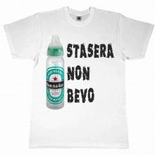 MAGLIETTA 100% COTONE BIMBO/A TITOLO STASERA NON BEVO