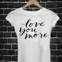 MAGLIETTA IN 100% COTONE UOMO/DONNA PER SAN VALENTINO: LOVE YOU