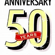 MAGLIETTA IN 100% COTONE UOMO/DONNA PER 50 ANNI TITOLO: 50 year