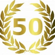 MAGLIETTA IN 100% COTONE UOMO/DONNA PER 50 ANNI TITOLO: PALME