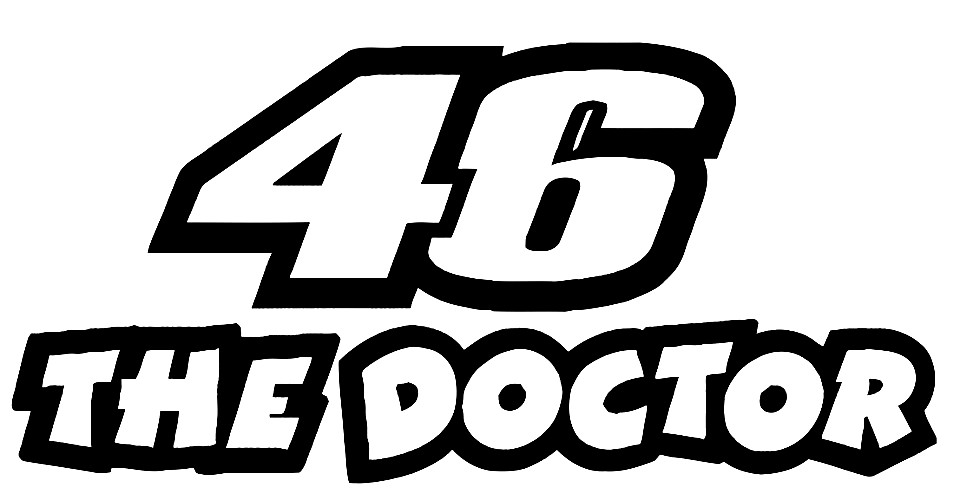 autocolante 46 the doctor
