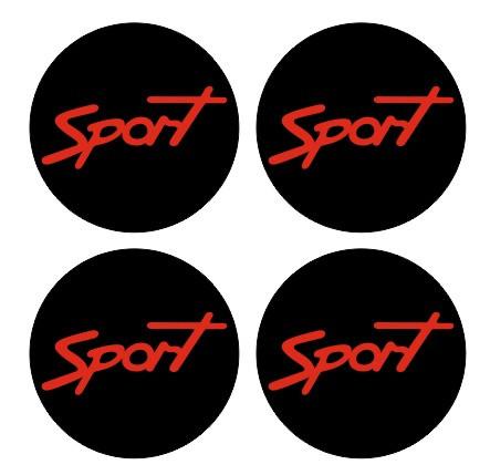 4 Autocolantes Para Centros de Jantes com Sport