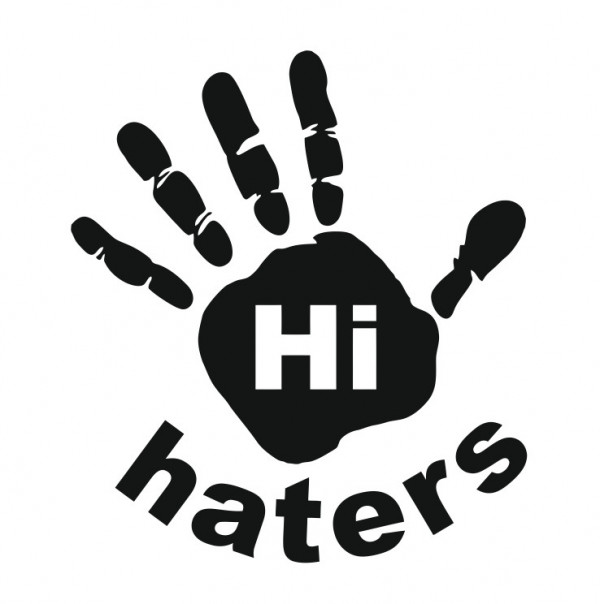 Autocolante com Hi haters