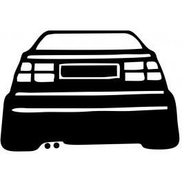 Autocolante com silhueta Corrado