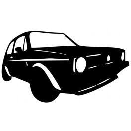 Autocolante com silhueta VW Golf MK1