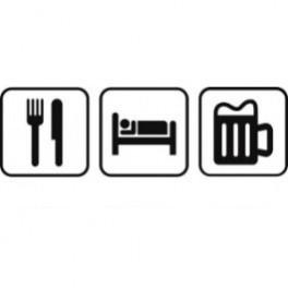 Autocolante - Comer Dormir Beber