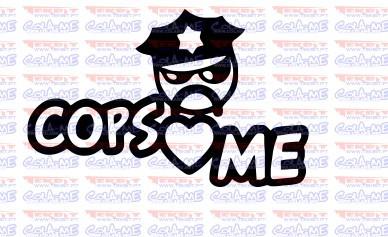 Autocolante -Cops Love Me