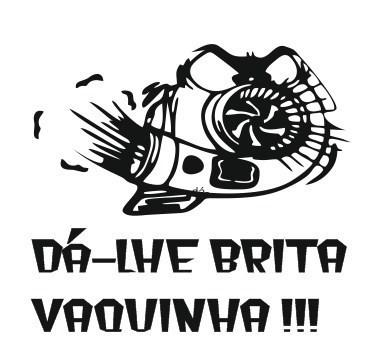 Autocolante - Dá-lhe brita vaquinha !!! (Turbo)