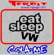 Imagens Autocolante - Eat Sleep VW
