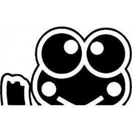 Autocolante - Hello Kitty Keroppi