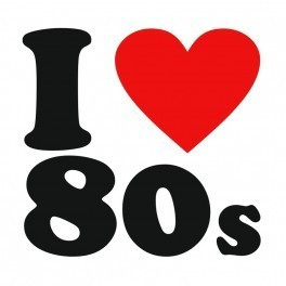 Autocolante - I Love 80's