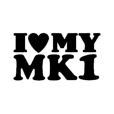 Autocolante - I love My MK1