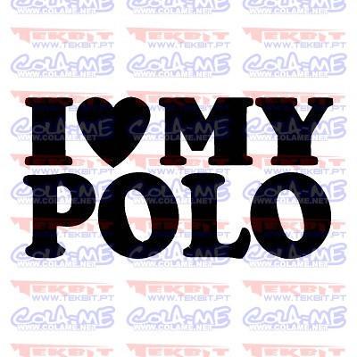 Autocolante - I love My Polo