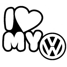 Imagens Autocolante - I Love My VW (Volkswagen)