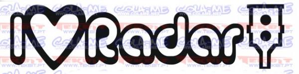 Autocolante - I Love Radar