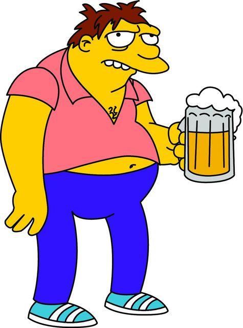 Imagens Autocolante Impresso - Barney Gumble - Simpsons