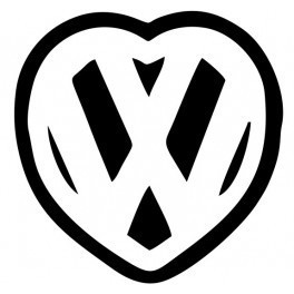 Autocolante - Love VW