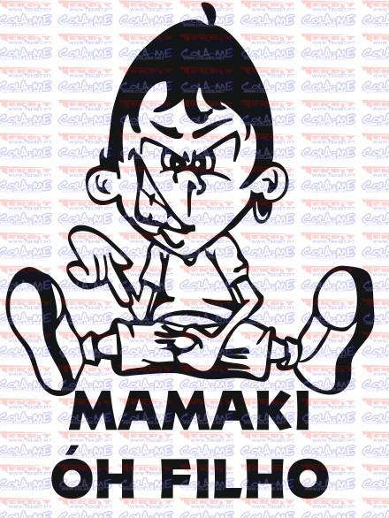 Imagens Autocolante - Mamaki óh filho