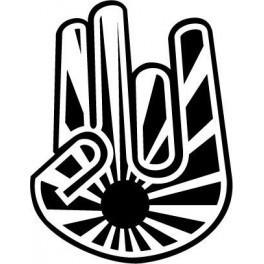 Autocolante - Mão JDM 3