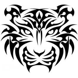 Autocolante - Tigre Tribal