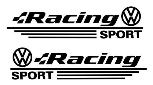Imagens Autocolantes - Volkswagen Racing Sport