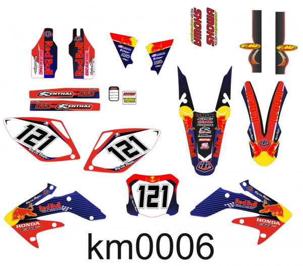 Kit Autocolantes Para Honda CRF 250 07-08