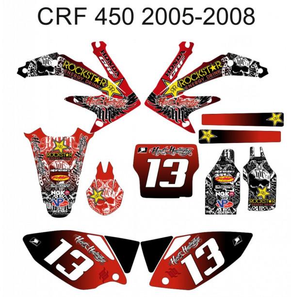 Imagens Kit Autocolantes Para Honda crf 450 05-08