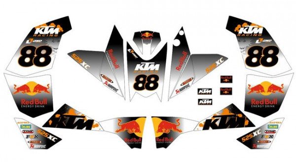 Imagens Kit Autocolantes Para KTM 525 XC