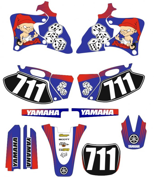 Kit Autocolantes Para Moto - Yamaha YZF 250 400 426 98-02