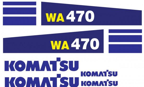 Kit de Autocolantes para KOMATSU WA 470
