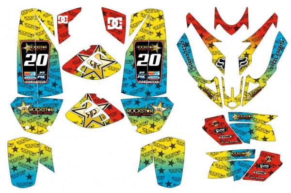 Imagens Kit de autocolantes para Polaris Predator 500