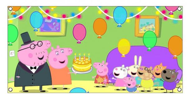 Imagens Lona de Aniversário - Peppa