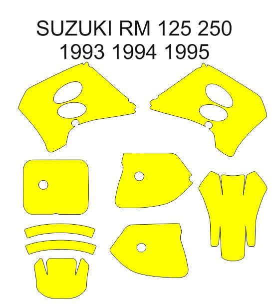 Imagens Molde - Suzuki RM 125 250 1993 1994 1995
