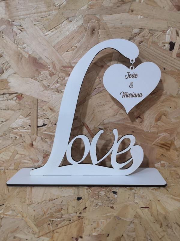 Moldura em MDF - Love - Nomes personalizados