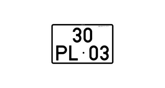 Imagens Placa de Matrícula Quadrada Acrílica 17x11.5 - Moto