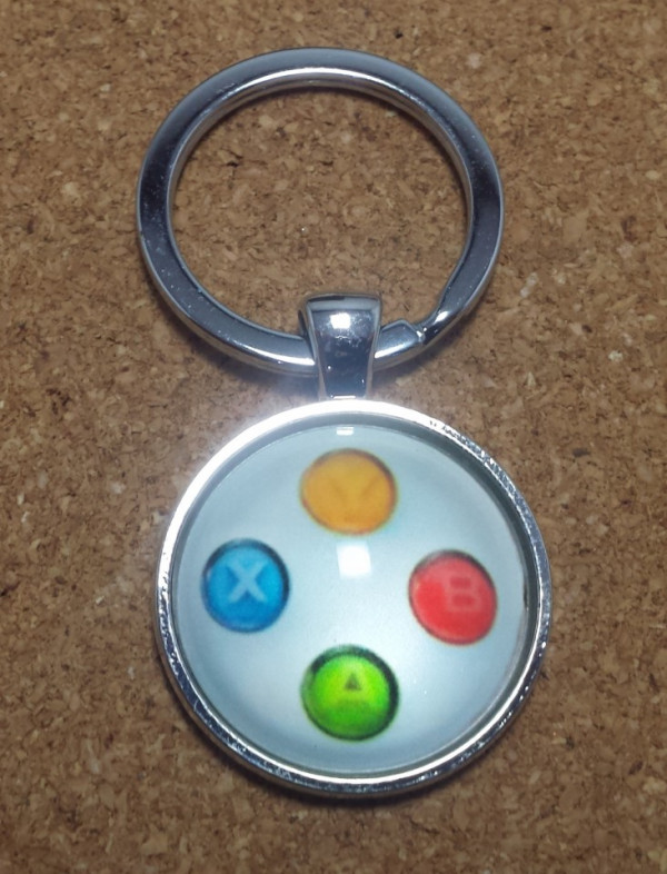 Porta Chaves - Botões estilo comando da Xbox ( Branco )