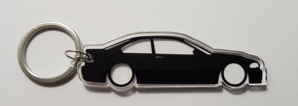 Porta Chaves de Acrílico com silhueta de BMW E46 Coupe