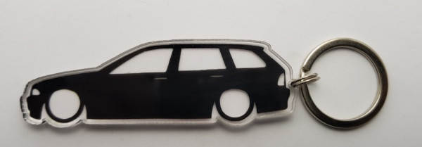 Porta Chaves de Acrílico com silhueta de BMW E46 Touring