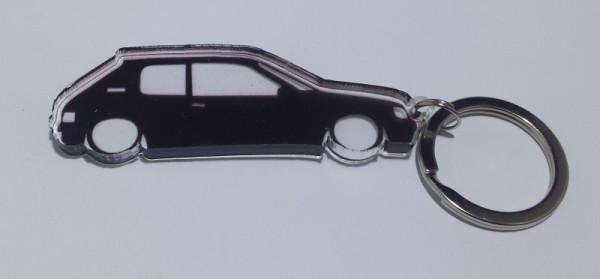 Porta Chaves de Acrílico com silhueta de Peugeot 205