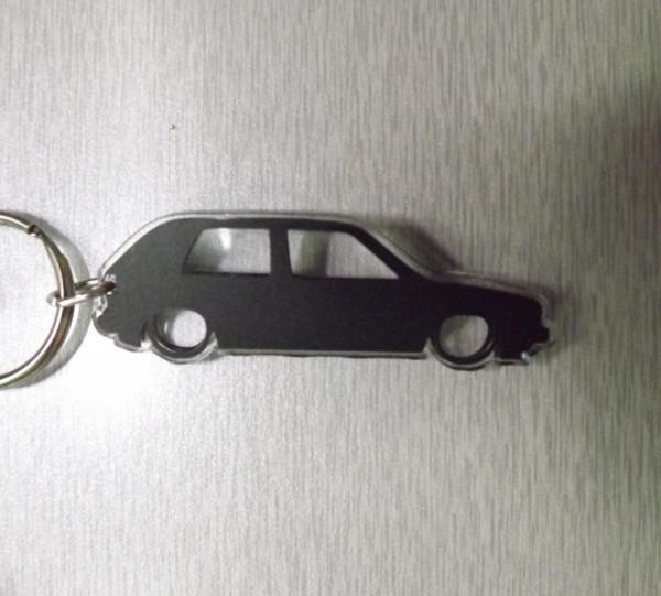 Porta Chaves de Acrílico com silhueta de VW Golf MK2